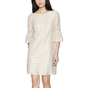 Jessica Howard Women's Sleeve Shift Lace Dress 14P